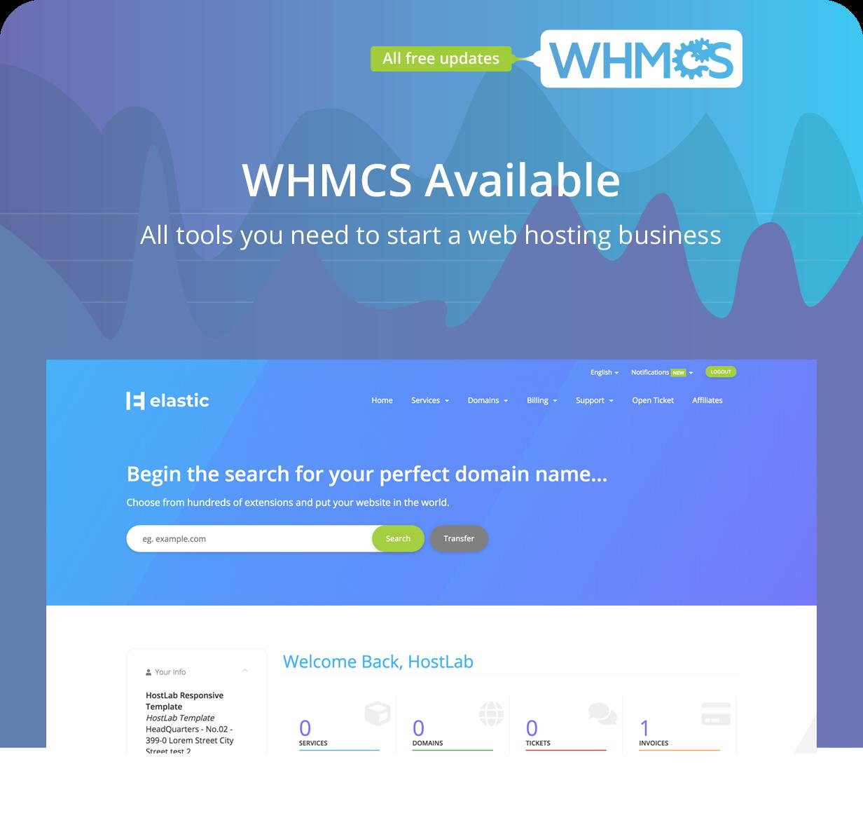 Ruben Rodrigues | Elastic - Hosting Provider & WHMCS Template